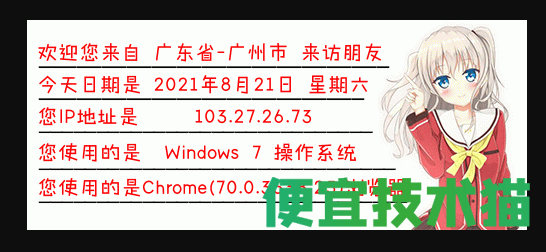 网站添加显示IP信息图片